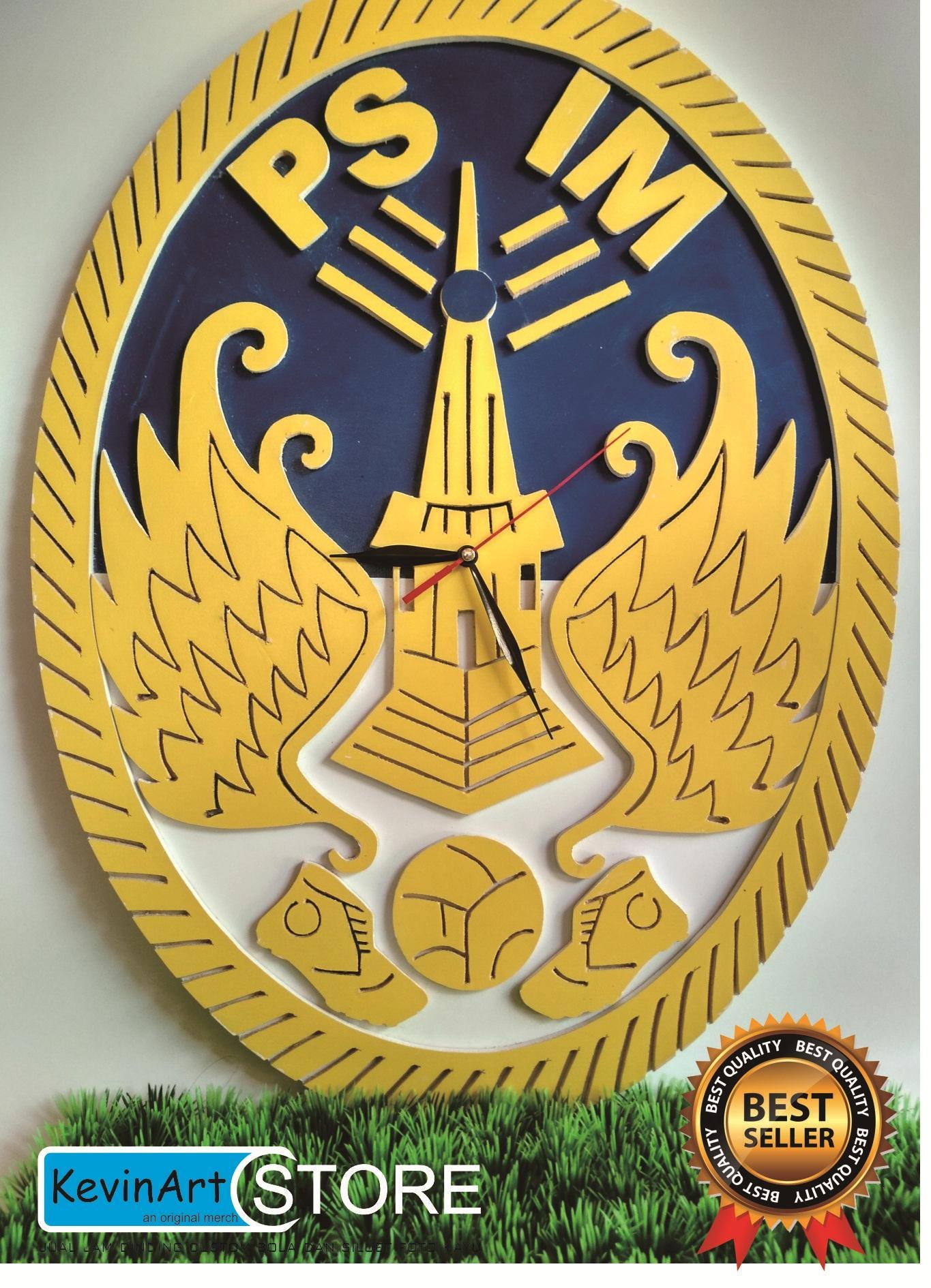 Kevinart Jam dinding custom  kayu 3D unik besar logo PSIM YOGYAKARTA