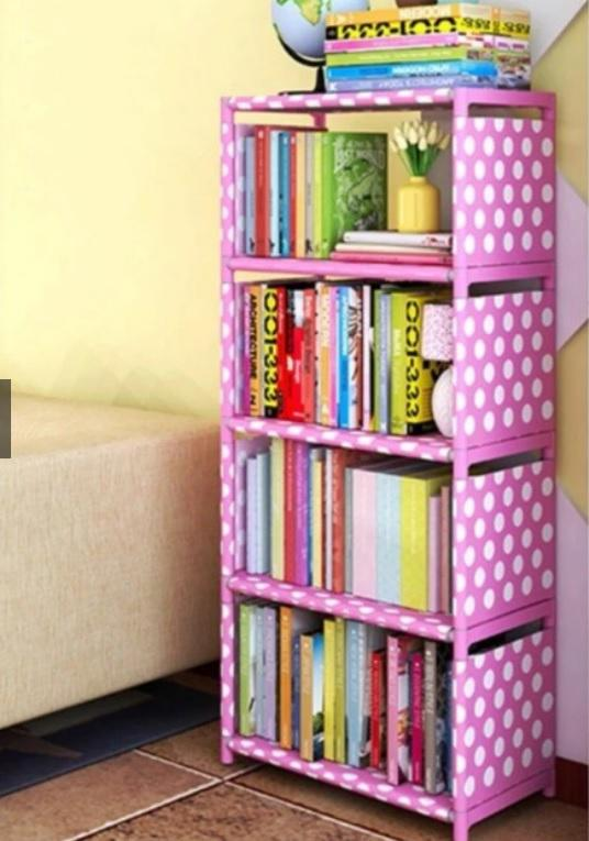 Rak Lemari Buku Serbaguna Portable 5 Susun = 4 Ruang Book Rack - POLKA #12