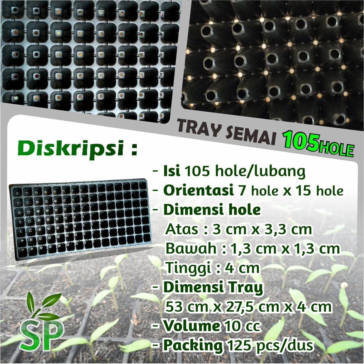 Sumber Plastik - Tray Semai Pot Semai Seedling Bibit Untuk Benih Tanaman Tray 105 Hole