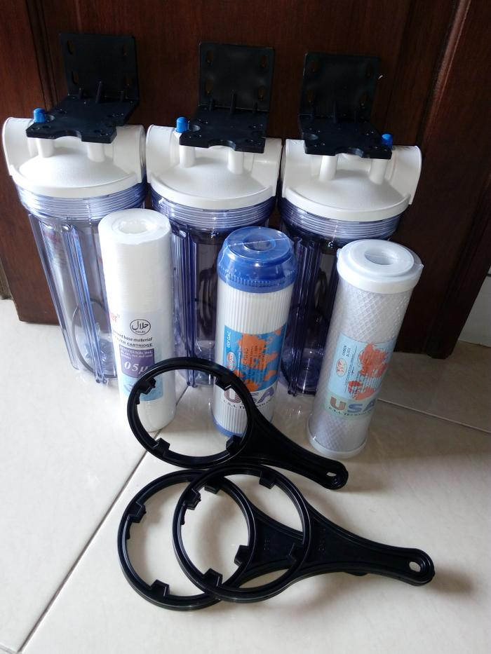 Paket Filter Air 3Tahap Housing Clear 10