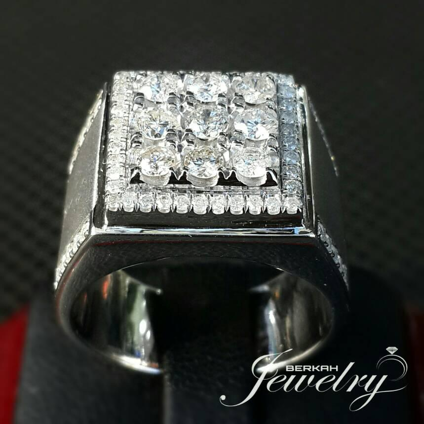 Cincin Pria Berlian NATURAL DIAMOND Ring Palladium