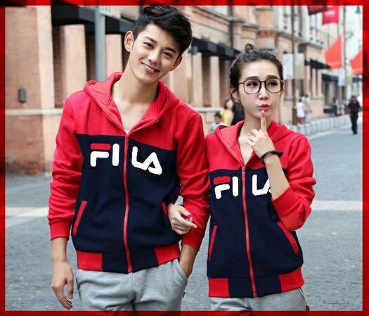 Jakarta Couple - Jaket Couple FILA CL   Jaket Pasangan  Jaket Model Korea    Jaket d7437f1ffc
