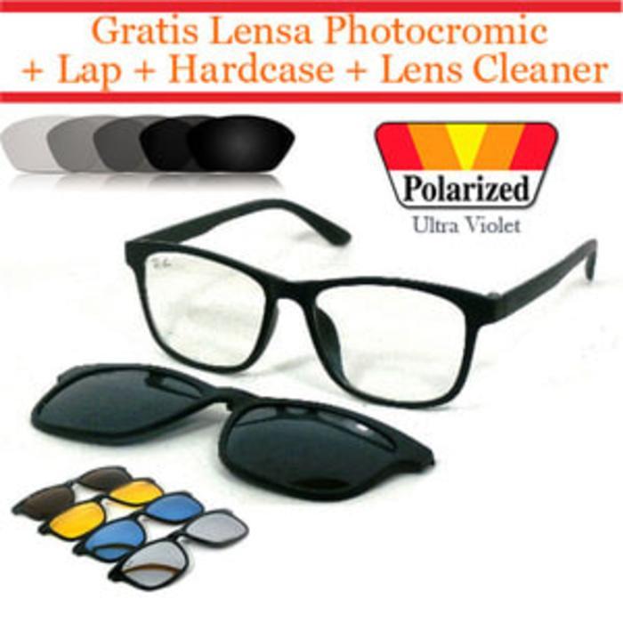 Promo Terbatas!! Frame Kacamata Lensa Otomatis Fotogrey Clip On 2201 (Frame+Lensa) - ready stock