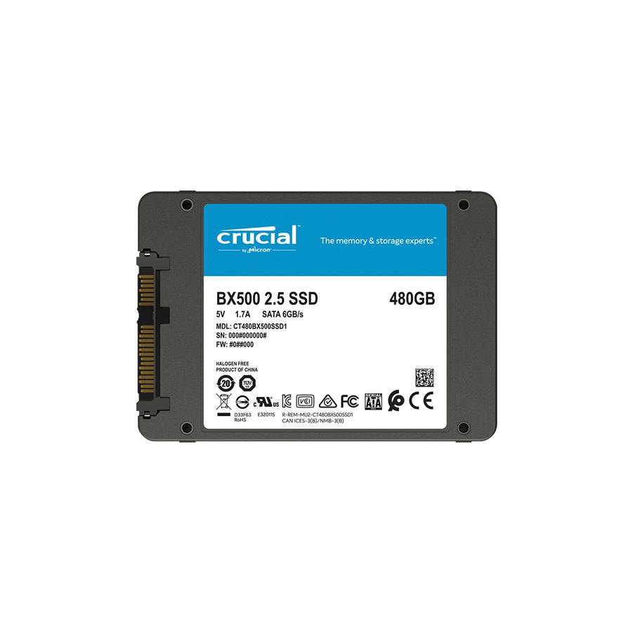 Crucial BX500 480GB 3D NAND SATA 2.5-inch SSD - CT480BX500SSD1