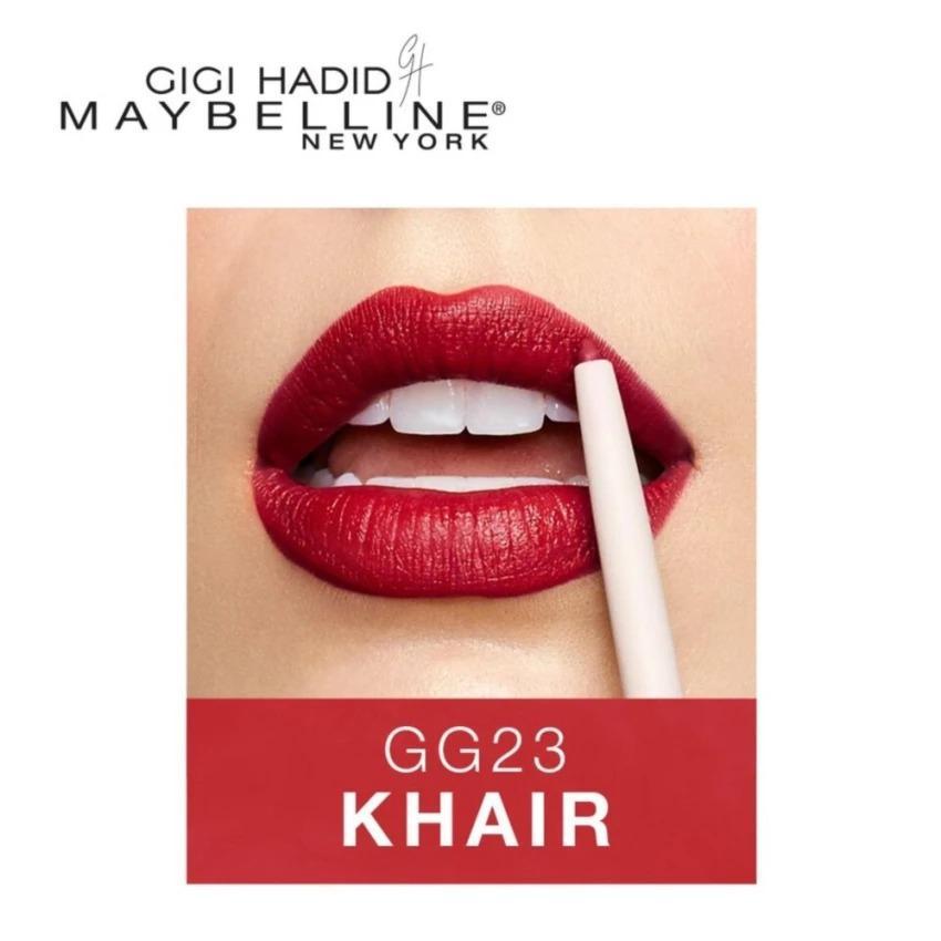 Maybelline GIGI HADID Limited Edition West Coast Glow Lip Liner Lip Matte Lipstick Pensil Bibir - Khair