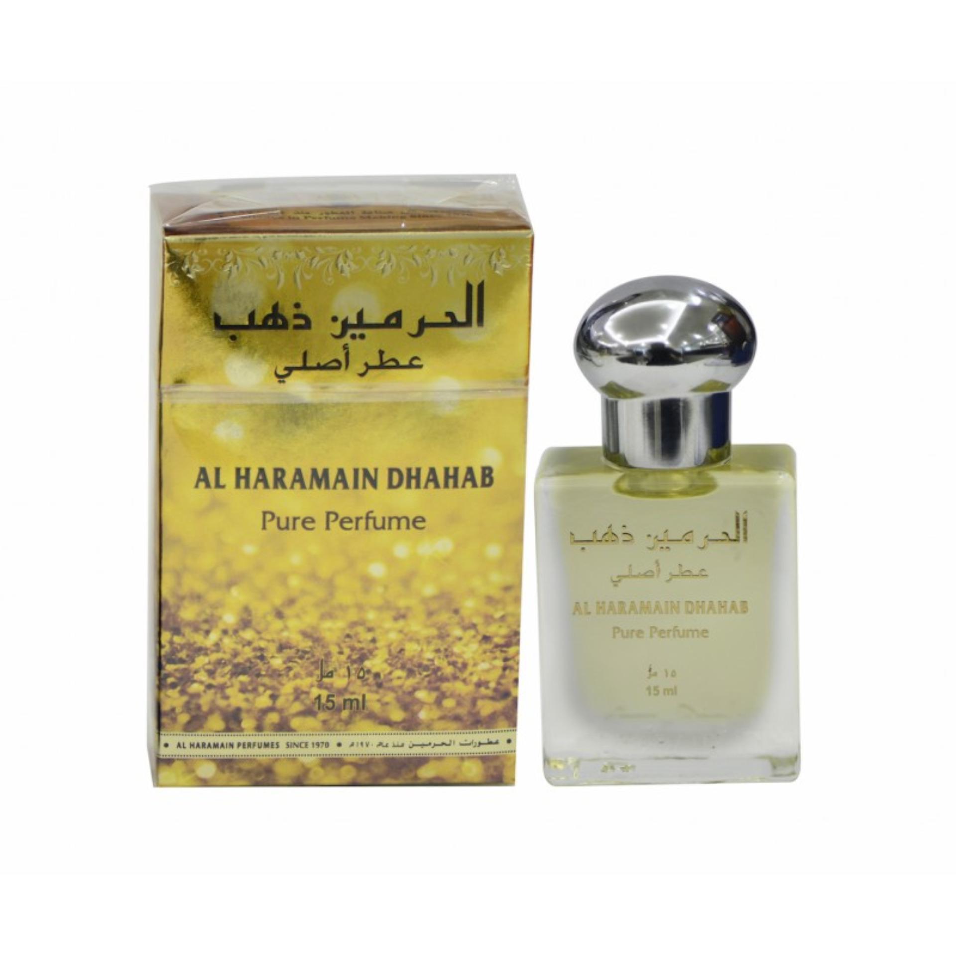 Parfum AL HARAMAIN DHAHAB Perfume 100% Original Impor Arab Non Alkohol 15ml Parfume Minyak Wangi Parfum ALHARAMAIN HARAMAIN AL HAROMAIN ALHAROMAIN HAROMAIN