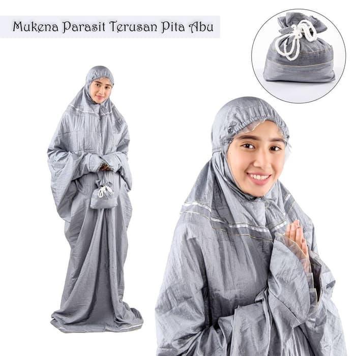Mukena Parasut Dewasa Terusan Pita P001-100%LEMBUT DAN ADEM!!!