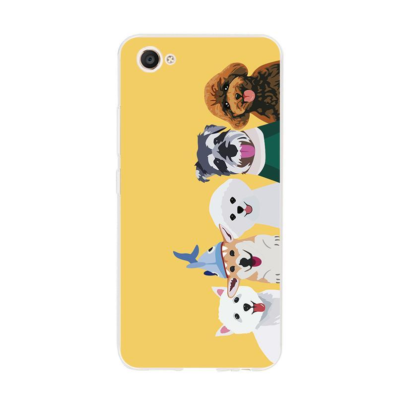 BBK VivoV5/Plus Casing HP X20/Plus Sarung HP Silikon Lunak Kreatif Anime Anjing
