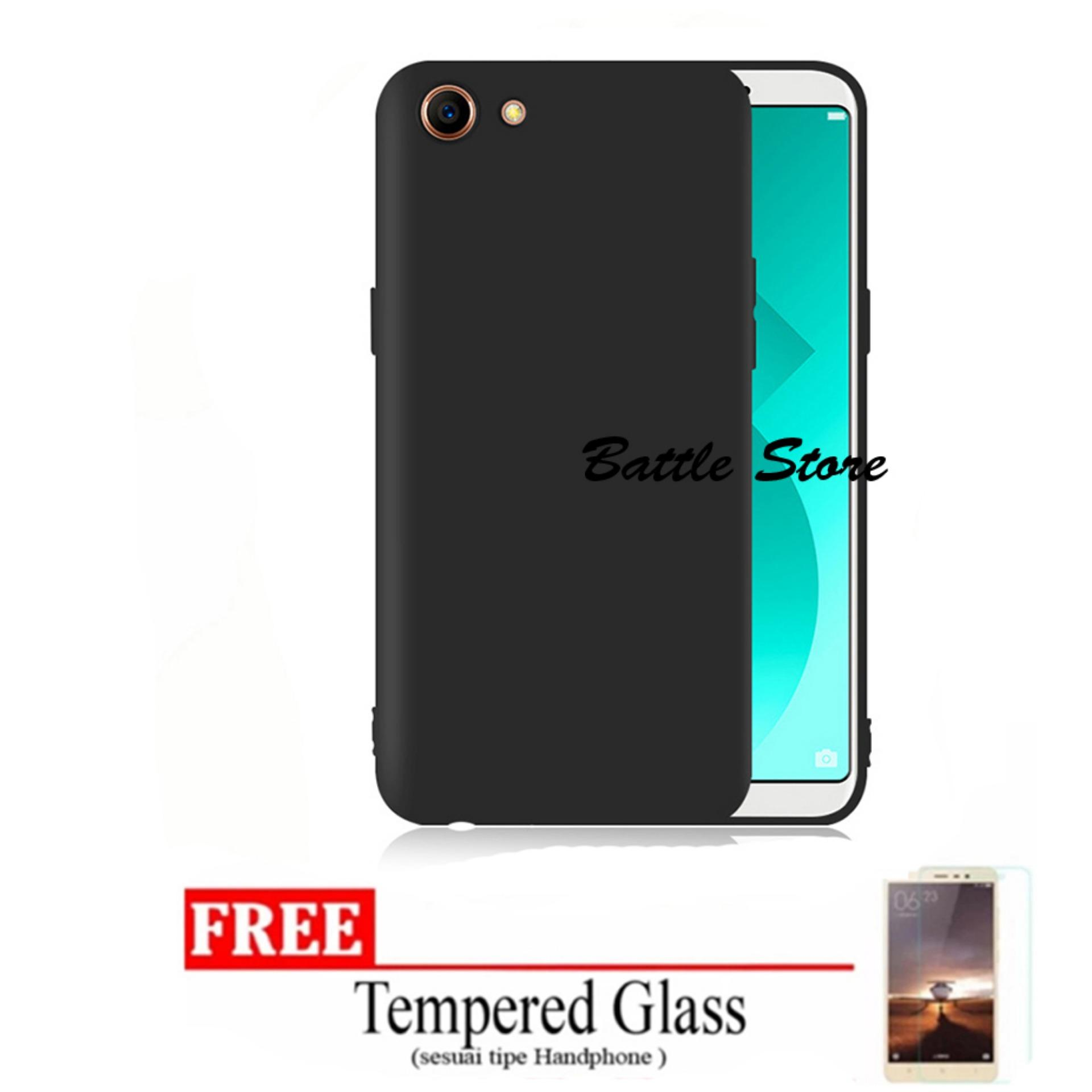 Rp 12.000. Case Slim Black Matte Oppo A83 / Oppo A1 Baby Skin Softcase Ultra Thin Jelly Silikon Babyskin + Free Tempered Glass ...