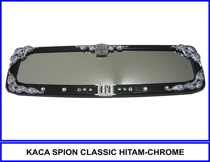 Kaca Spion Classic Hitam-Chrome By Katzia Accessories.