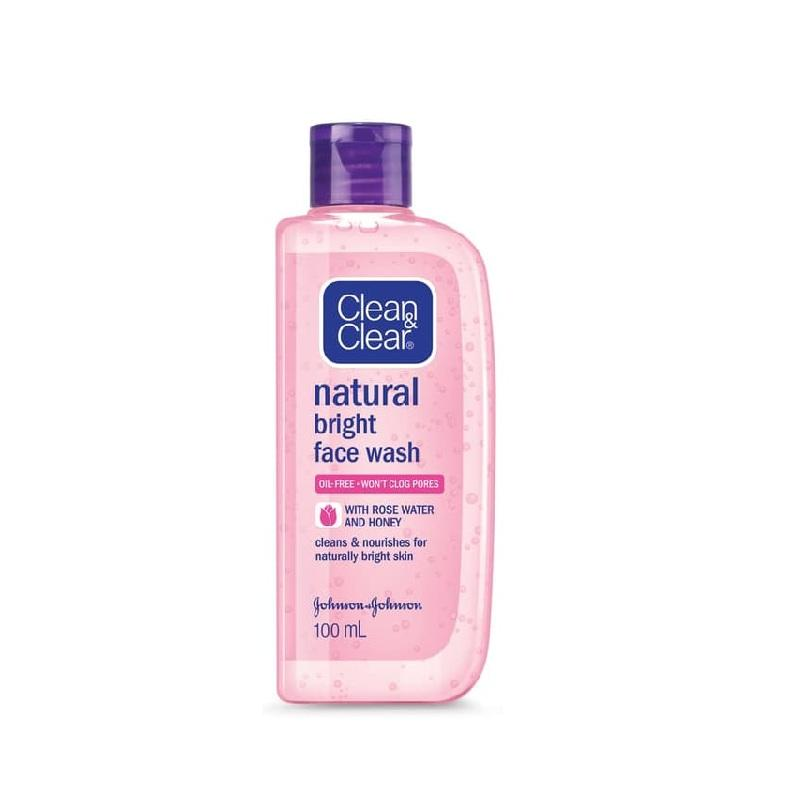 CLEAN CLEAR Natural Bright Face Wash with Rose and Honey 100 ml