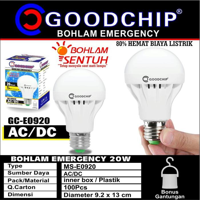 Bohlam Led Lampu Emergency 20 Watt Merk Goodchip By Mitsuyama