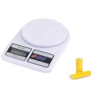 Bandingkan Toko Aiueo Timbangan Digital Dapur 10 kg SF-400 Putih Gratis battery sale - Hanya Rp37.634