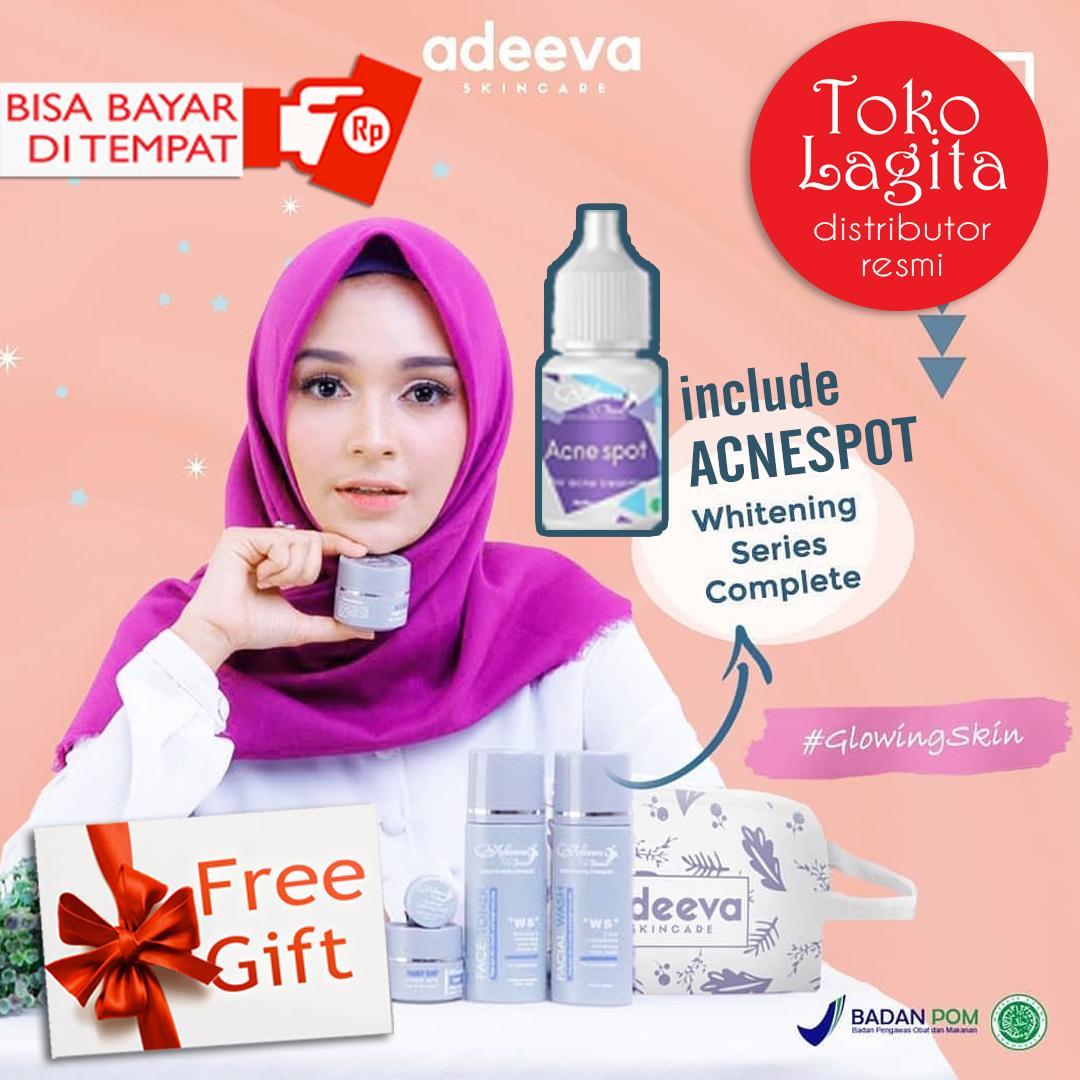 Adeeva Whitening Komplit Daftar Harga Terbaru Dan Terupdate Indonesia Calm Cream Skincare Atau Calming Gel Adeevaskincare Paket Glowing Acnespot 7 Pcs