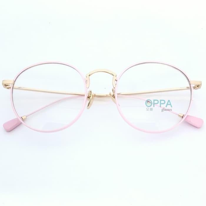 Frame Kacamata Korea Pria Wanita Minus OP27 PK Bulat