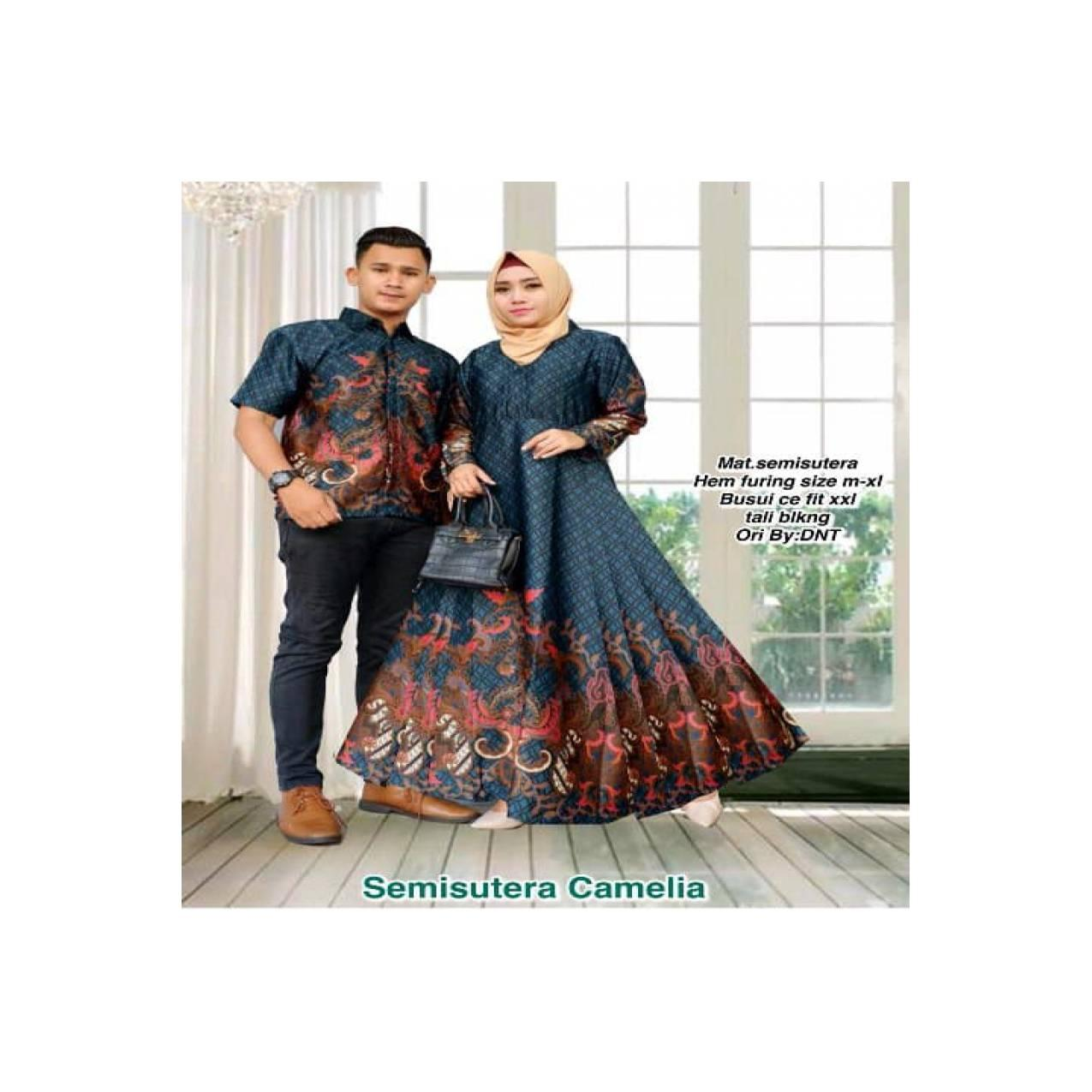 PROMO SPESIAL baju couple - sarimbit batik - baju muslim couple -
