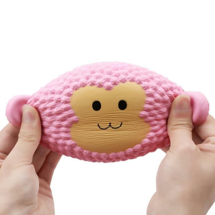 Squishy slow rising jumbo murah model pink monkey / squishy monyet