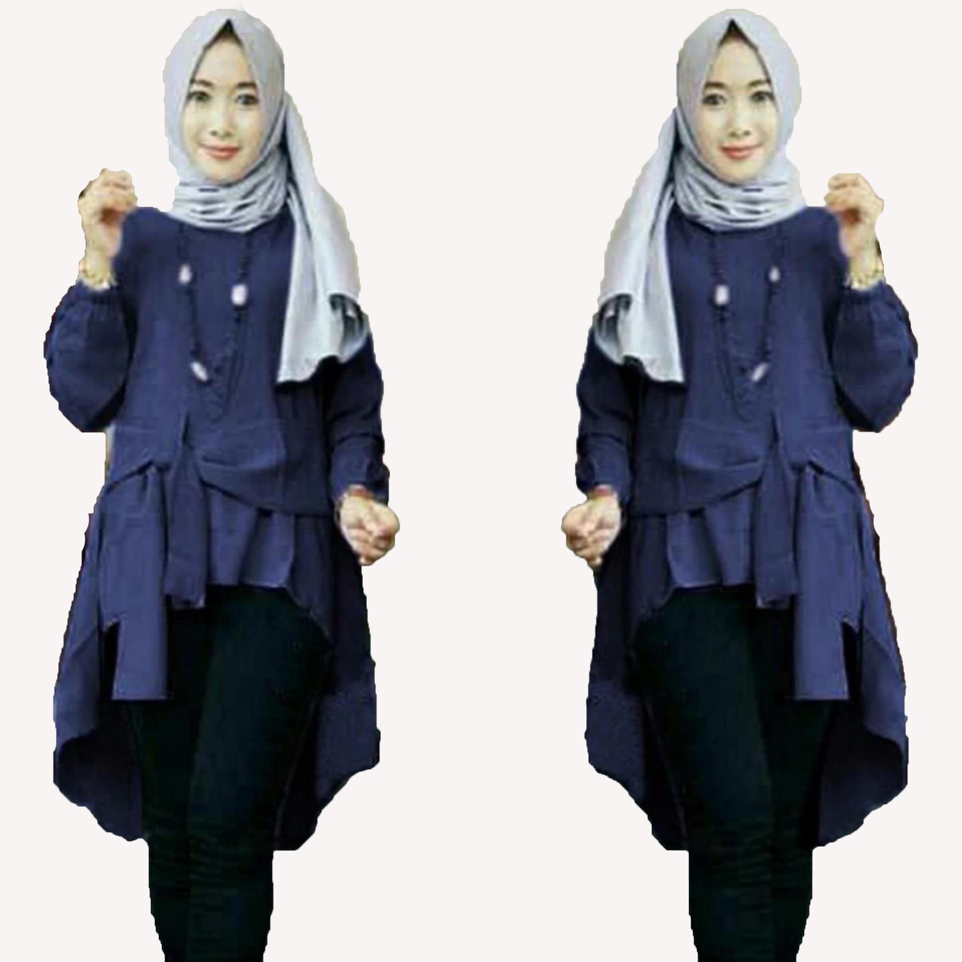 Buy Sell Cheapest Cp Cantika Navy Best Quality Product Deals Tempat Kyoko Blouses Terompet Laser Mocca