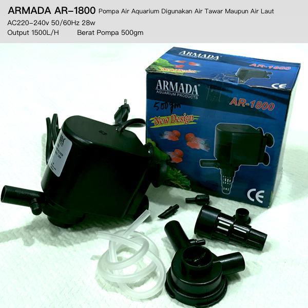 Aquarium Pompa Air 28w ARMADA AR1800 Bisa Digunakan Air Tawar & Air Laut