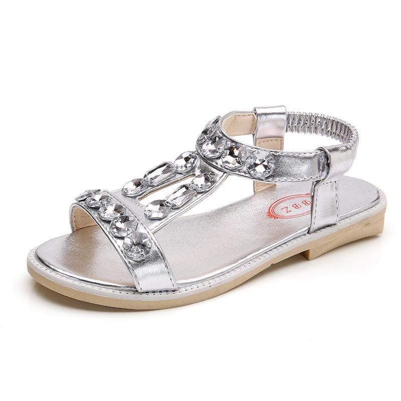 Anak Prempuan Sandal Summer 2018 Model Baru Batu Kristal Air Sepatu Putri Anak-anak Sandal