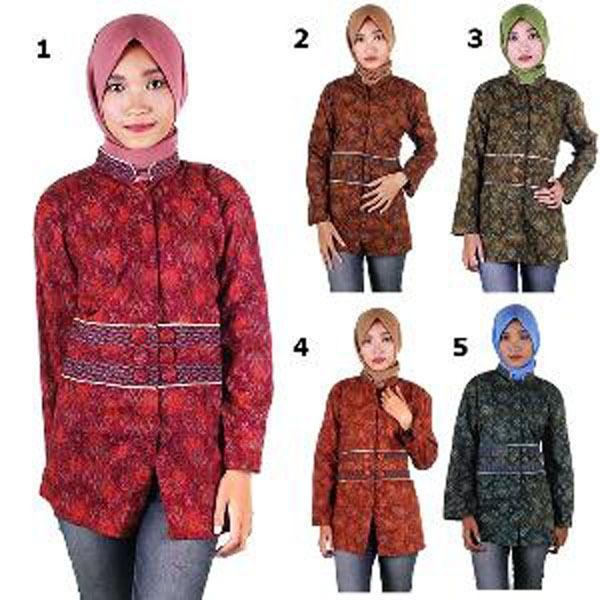 Kemeja Baju Hem Blus Wanita Batik Wirasti