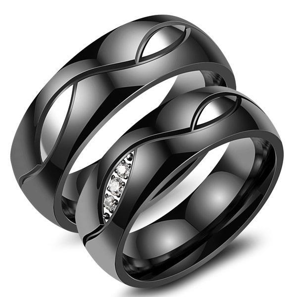 Titanium Cincin Couple - Cincin Tunangan - Cincin Nikah CC085