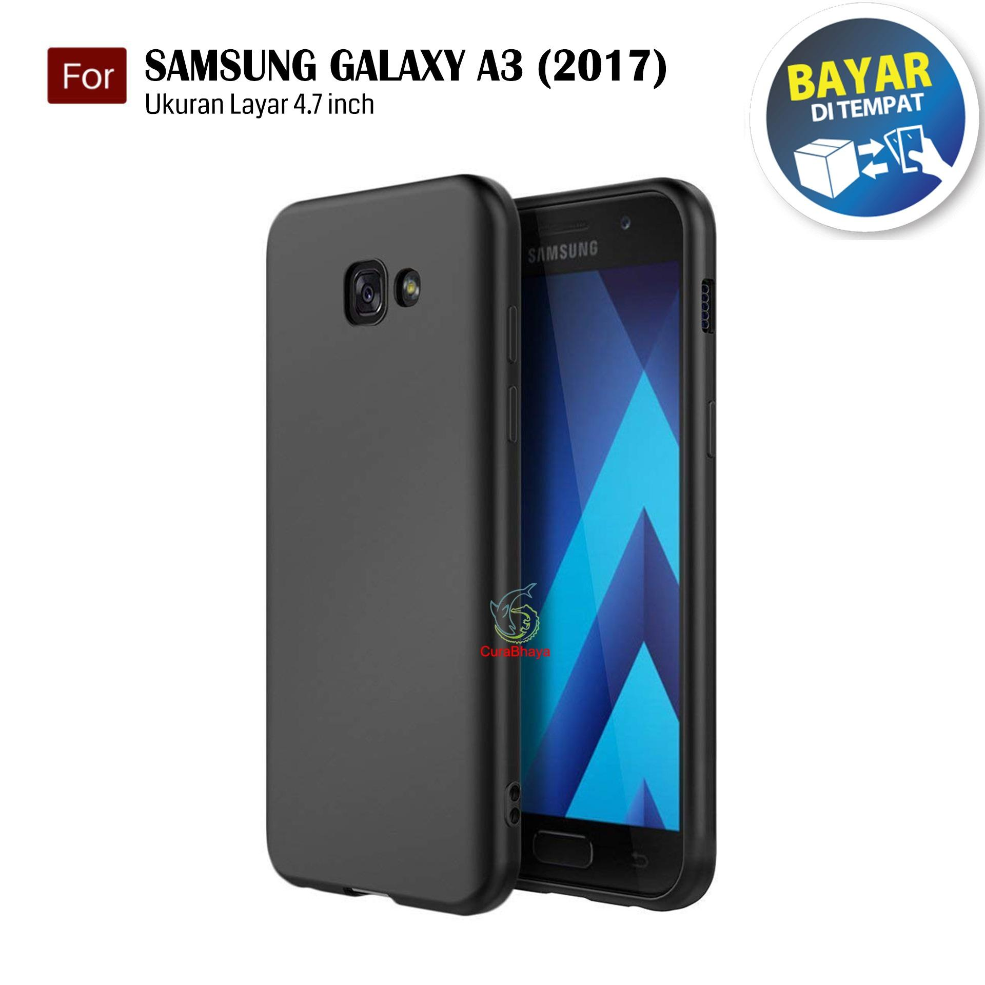MidNight Samsung Galaxy A3 (2017) / A320 / Duos | Slim Case Black Matte