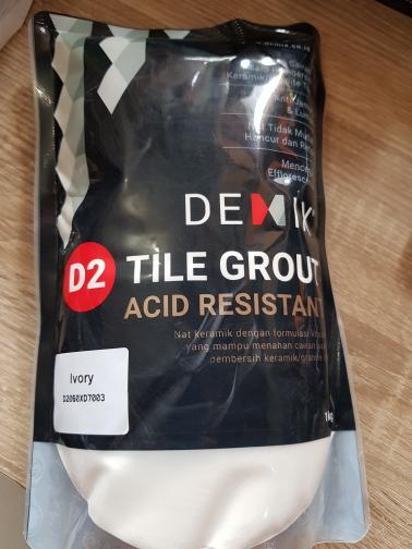 Nat Keramik Demix Acid Resistant Ivory(Putih) 1Kg - ready
