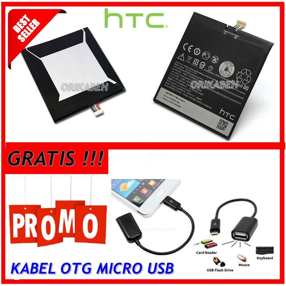 Htc Baterai / Battery HTC Desire 816 Original B0P9C100 Kapasitas 2600mAh + Gratis Kabel Otg Micro