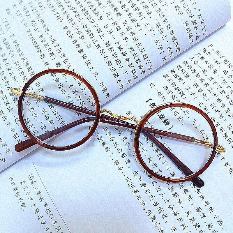 Adapula Nak Anak Retro Putaran Lingkaran Cermin Lensa Kacamata Hitam Logam  Warna Bingkai . f42bb244fc