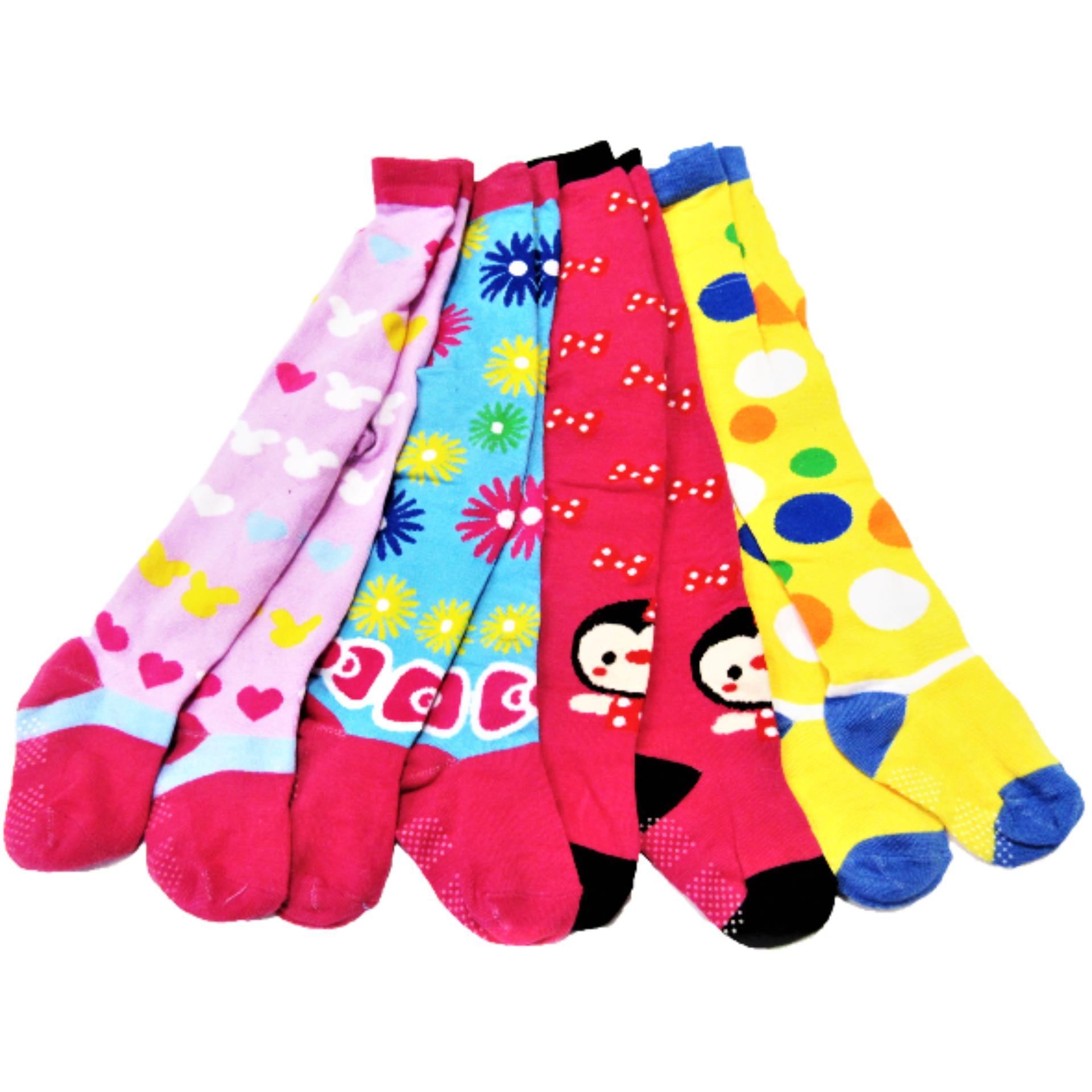 Pakaian Dalam Anak Perempuan Murah Kaos Kaki Tk Fiona 4 Pcs Legging Motif Cewek Tutup Multiwarna