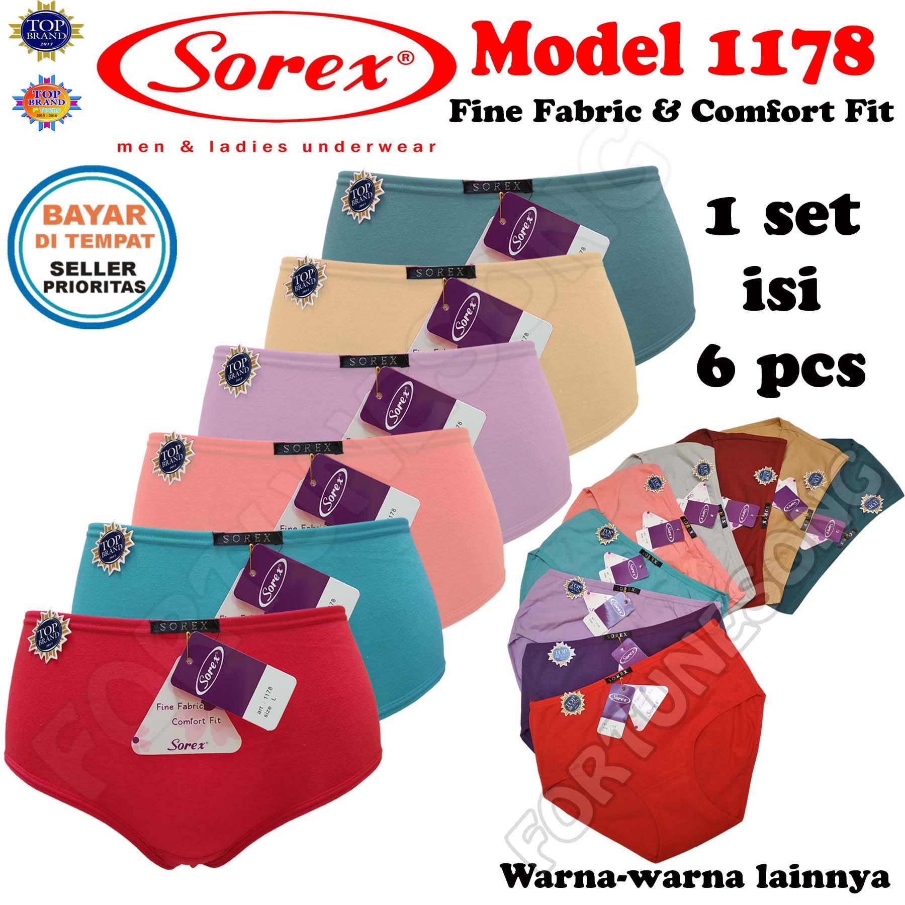 SOREX - 6 Pcs Celana Dalam Wanita Sorex 1178 Fine Fabric   Comfort FIt 55852d95b4