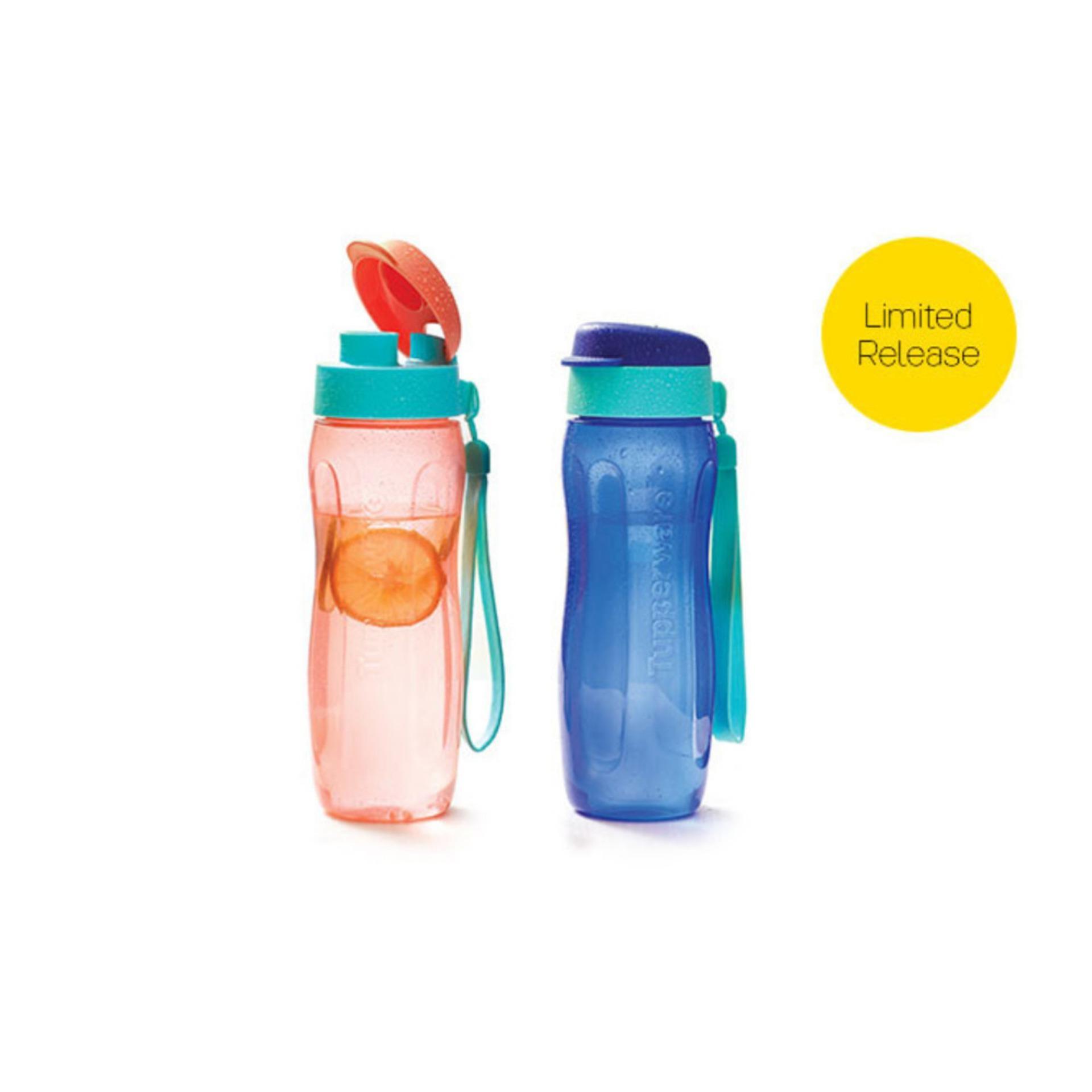 Tupperware Fashion Eco Bottle 500ml (2pcs) Orange Biru