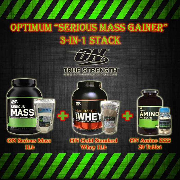 Paket ON Serious Mass Gainer 3in1 /Optimum Nutrition/Suplemen/Hemat