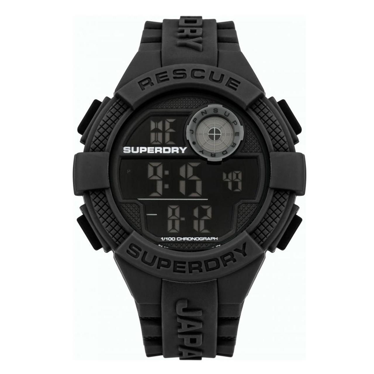 Superdry Jam Tangan Pria Strap Rubber Abu Syg193e Review Harga Police 13894jsub Black Resin Syg193b