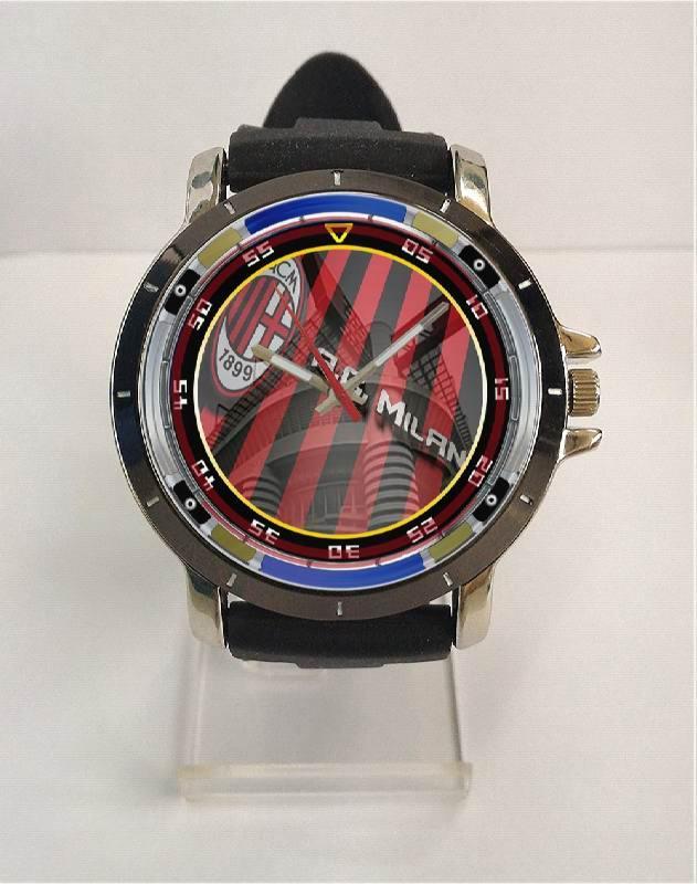 [ALBANYWARD] Jam Tangan Rubber Custom Pria Wanita Tema AC MILAN High Quality - Art 5 TERBARU