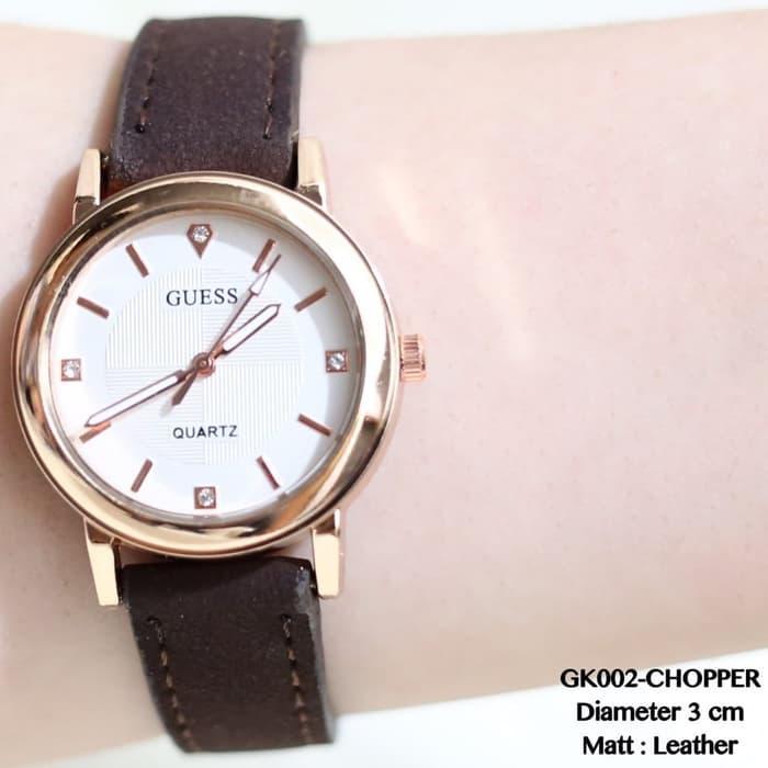 Jam tangan wanita guess kulit fashion terbaru fossil/seiko/rolex/gucci HOT
