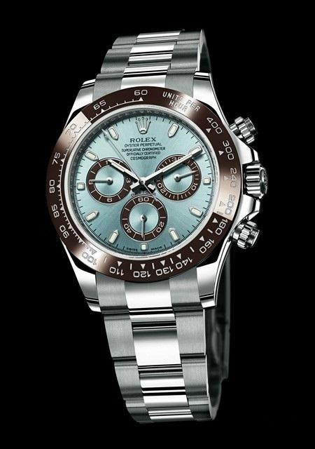 Jam Rolex Daytona Cosmograph Automatic Silver Dial Ice Blue