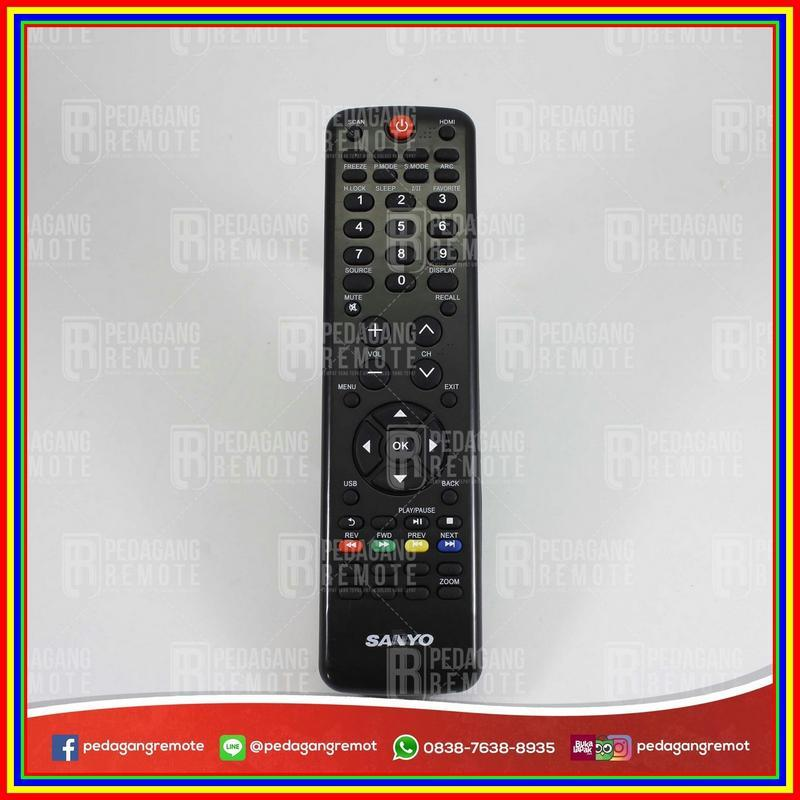 Remot Remote Tv Lcd Led Sanyo Haier Htrd18A Kw Super