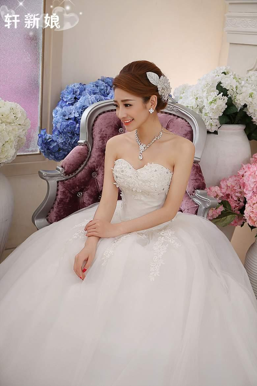 Gaun resepsi gaun pengantin pengantin wanita gaun panjang sampai lantai stagen BH Gaun pengantin 2019 model