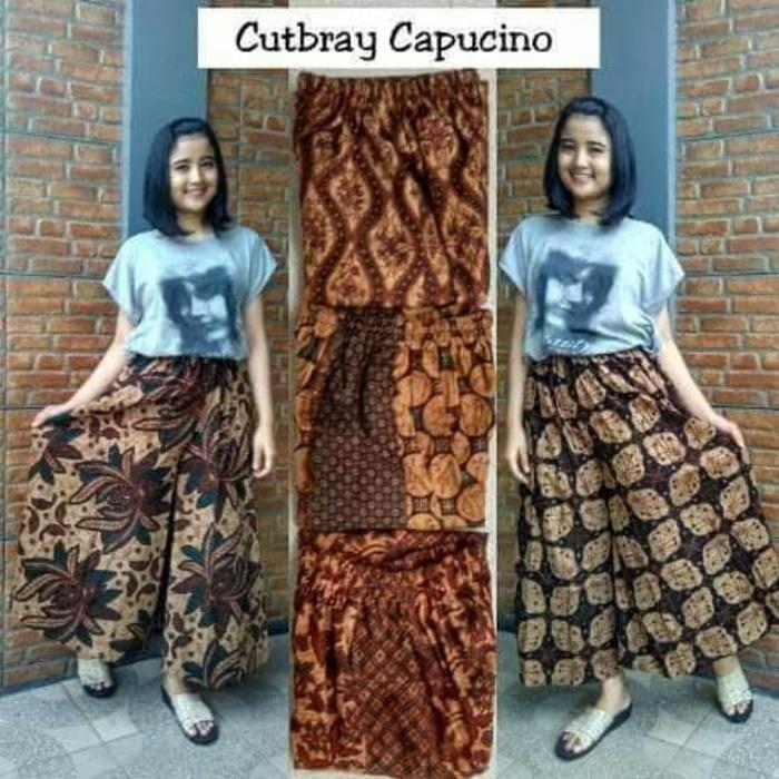 celana kulot batik capucino