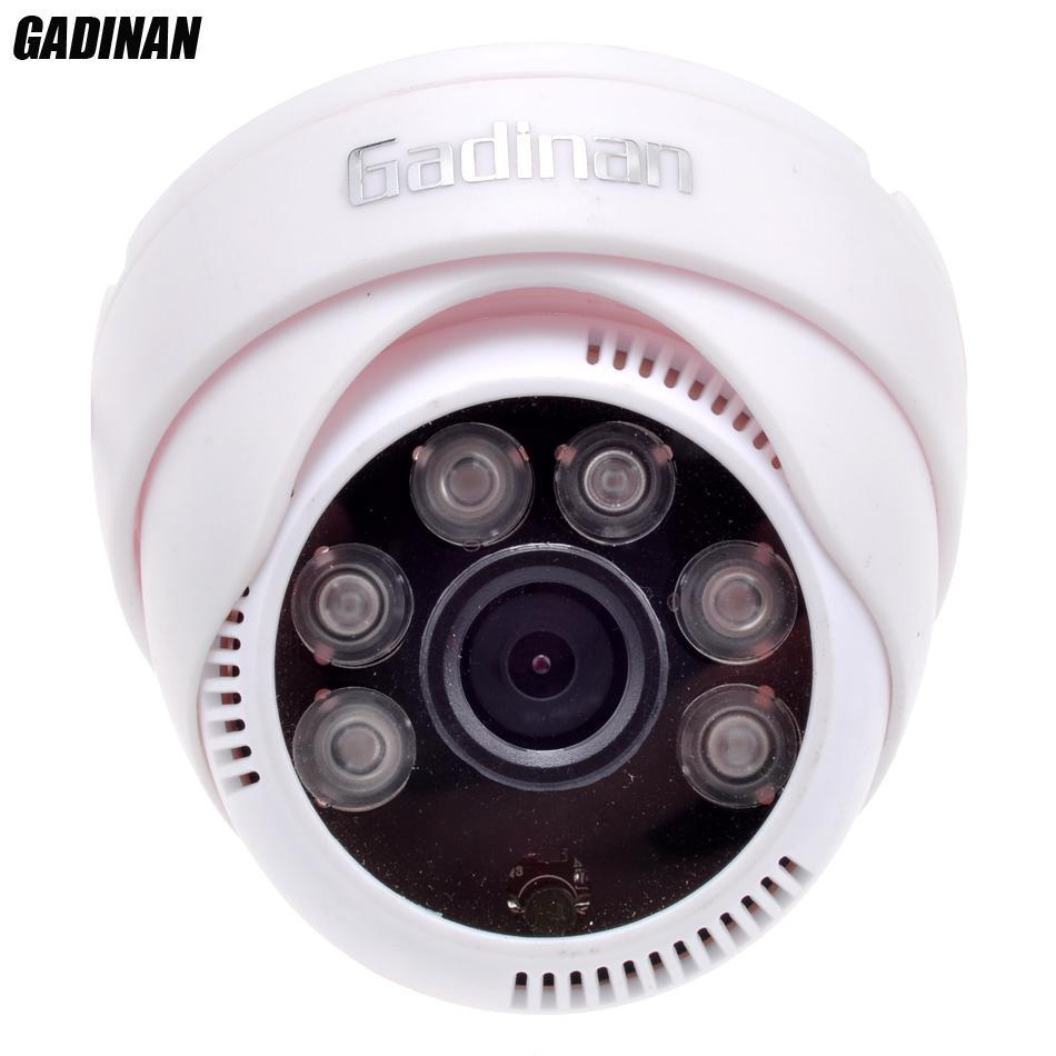 Gadinan Analog CMOS 800TVL 1000TVL IR-CUT Filter 2.8 Mm Lensa Sudut Lebar Modus Malam Keamanan Kubah Dalam Ruangan Kamera CCTV Keluaran BNC (PAL) -Intl