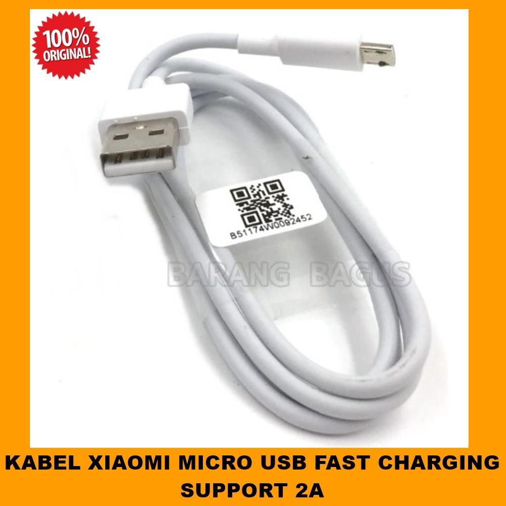 Xiaomi Kabel Data & Kabel Charger Micro Usb 2A Support Fast Charging Original - Putih  [ barang bagus ]