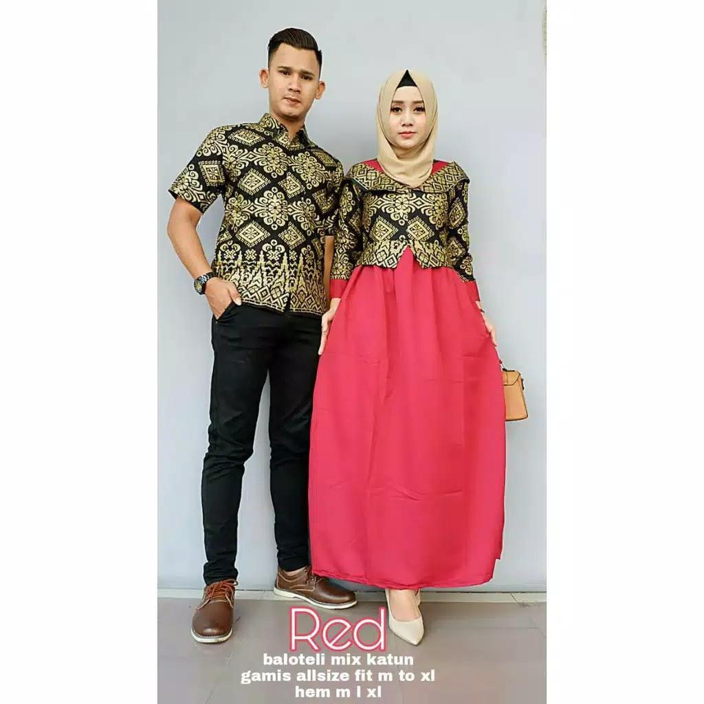 Likin Baju gamis lebar batik jumbo couple sarimbit modern murah terbaru CP  Shiren 14e8bef0aa