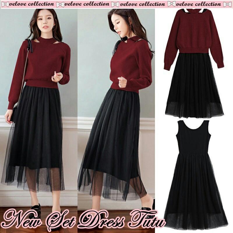 godwin collection New set dress tutu/ fashion wanita/ muslim/ fashion muslim/ atasan