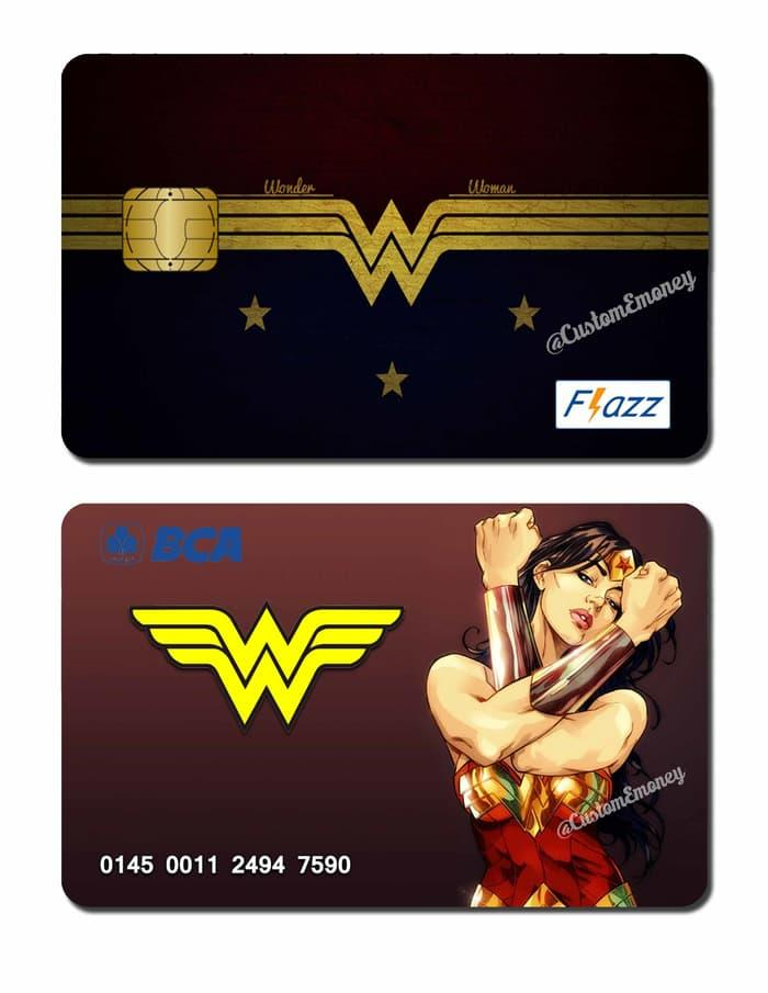 Promo: Kartu Bca Flazz Wonder Woman Custom Design - ready stock
