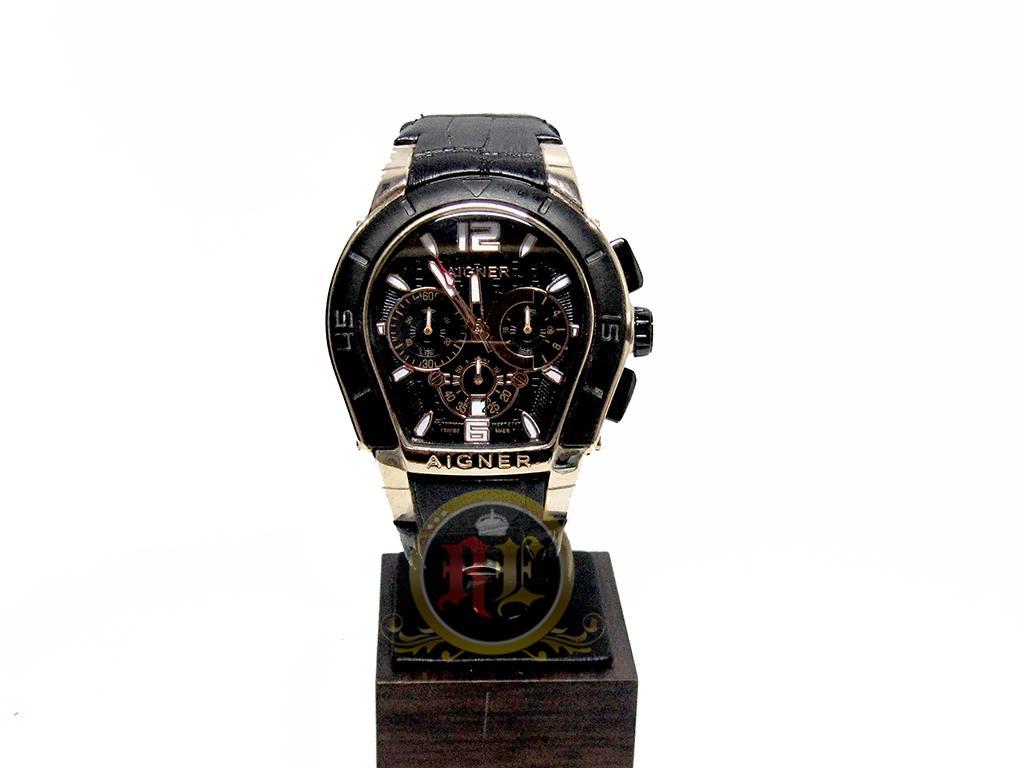 Banding Harga Jam Tangan Aigner Pria Original Murah Terbaru November A09026 Triento Hitam Gold Fashion Premium Quality Grade Agn01