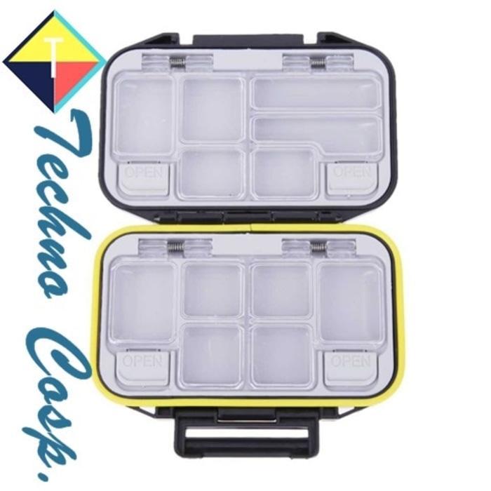 HOT PROMO!!! Techno Cos Box Kotak Perkakas Kail Pancing 12 Ruang Wadah Alat Mancing - UZuSRC