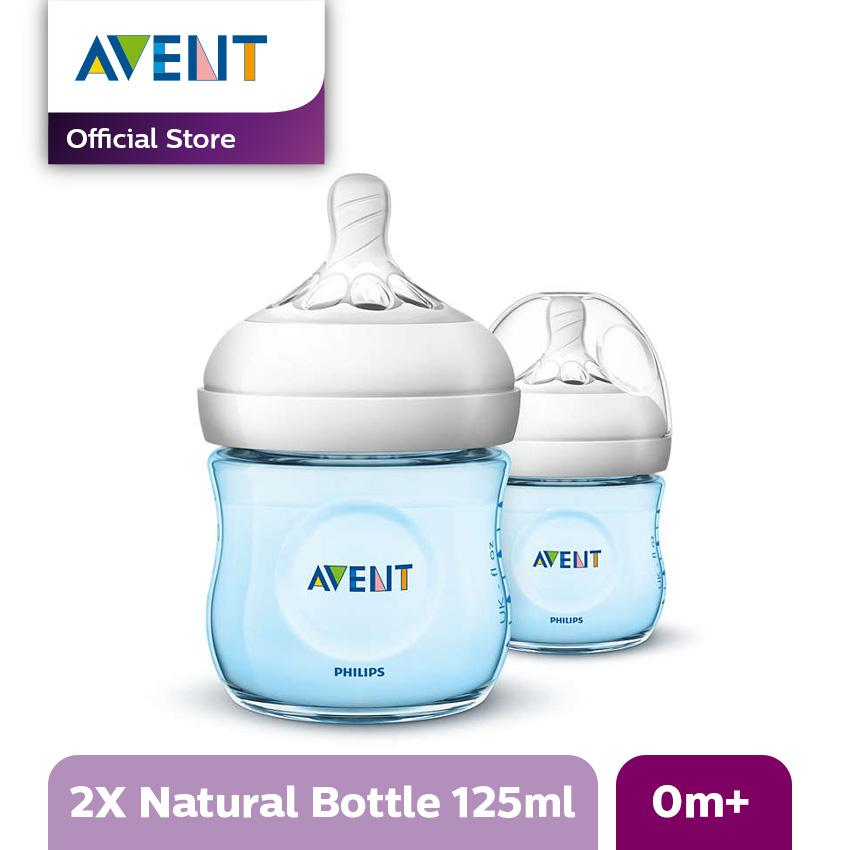 Philips Avent SCF692/23 BOTTLE 4OZ PP NATURAL BLUE TWIN