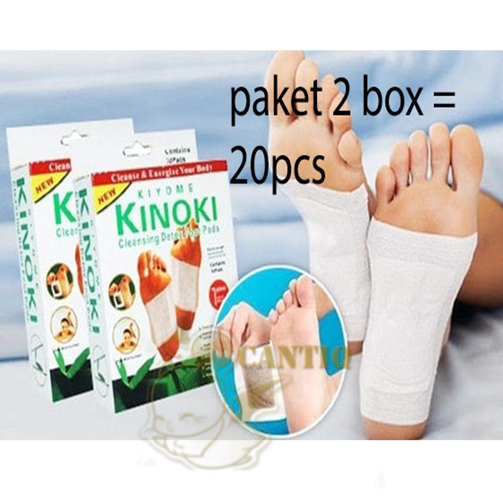 2 BOX 20 PCS 10 pasang Koyo Kinoki Original Kinoki Foot Patch Koyo